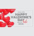 valentines day poster design sale promotion vector image