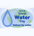 world water day theme greeting card or banner a vector image