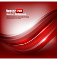 Abstract background Ligth red curve and wave vector image vector image