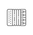 accordion harmonica musical instrument vector image