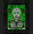 alien street ware vector image vector image