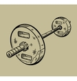 barbell Sports equipment fitness vector image vector image