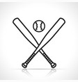 baseball or softball icon vector image vector image