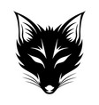 black fox sign vector image