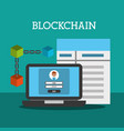 blockchain wallet password contract internet vector image