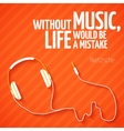 bright headphones music wallpaper background vector image vector image