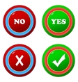 Buttons yes and no vector image