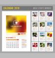 calendar template 2018 vector image