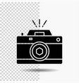 camera photography capture photo aperture glyph vector image vector image