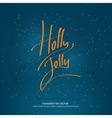Christmas handwritten lettering vector image vector image