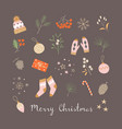 christmas holiday favorite little things vector image vector image