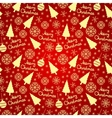 Christmas seamless pattern elements vector image vector image