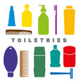colorful toiletry flat icons personal hygiene vector image vector image
