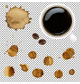 cup of coffee with stains set vector image vector image