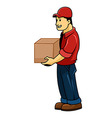 delivery men vector image