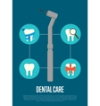 Dental care banner with dentist drill vector image vector image