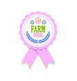 farm fresh rosette vector image vector image