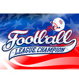 Football league champion on USA flag vector image vector image