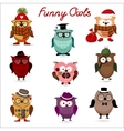 Funny owls set for your design