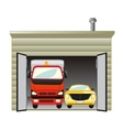 Garage with car vector image vector image