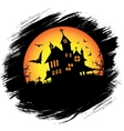 Halloween castle with sun vector image vector image