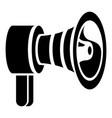 handspeaker icon simple style vector image