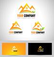 House Logo Concept Design vector image