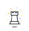 icon of rook chess piece for business strategy vector image vector image