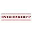 Incorrect Watermark Stamp vector image vector image