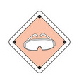 industrial security sign vector image vector image