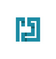 letter j square monogram logo vector image vector image