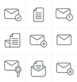 Line Icons Set of icons for messages Design vector image