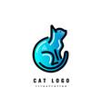 logotype cat vector image vector image