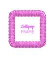 lollipop violet square frame vector image vector image