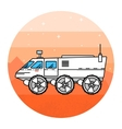 Mars rover on the white background vector image vector image