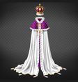 medieval monarch ceremonial cloth realistic vector image vector image