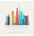 modern different colors skyline cityscape isolated vector image vector image