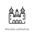 outline morelia cathedral in mexico icon isolated vector image vector image