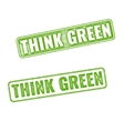 Realistic grunge rubber stamp Go Green vector image
