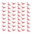 red dinosaur wallpaper on white background vector image