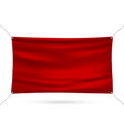 red mock up vinyl banner vector image vector image