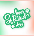 saint patricks day typography lettering poster vector image vector image