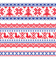 sami band or belrd design lapland folk art vector image vector image