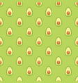 seamless pattern avocado ripe halves avocado vector image vector image