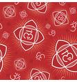 seamless pattern with muladhara chakra vector image vector image
