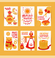 set cards on the theme of the russian vector image vector image