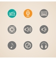 set flat musical icons vector image
