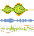Set of isolated music volume waves vector image