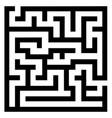 simple maze vector image