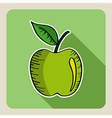 Sketch style green apple vector image